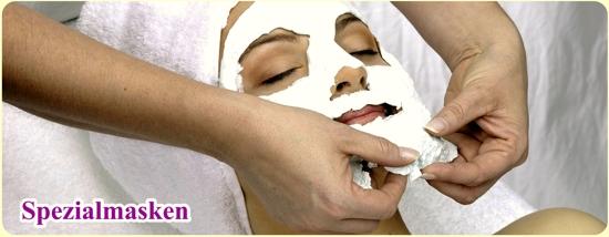Kosmetikbehandlung Gesichtsmaske